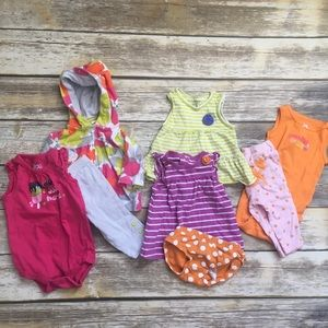 Baby Girl 0-3 Month Bundle Shirts Pants